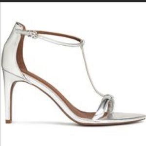 H&M Shoes - Silver ankle strap heels